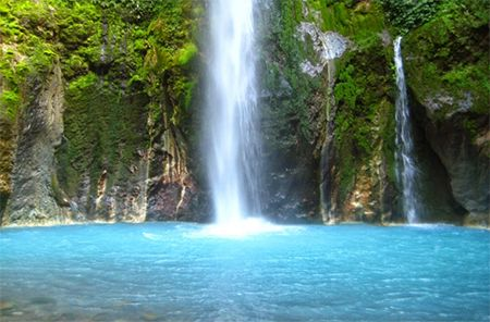 Air Terjun Telaga Dwi Warna Sibolangit Sumatera Utara