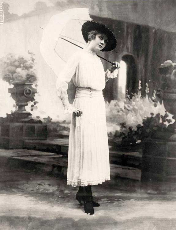 Уличный стиль Нью-Йорк 1915 год