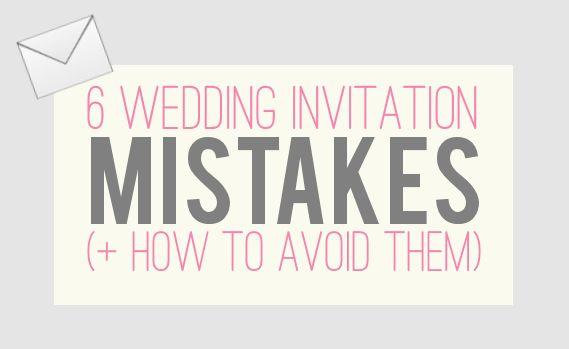 6 Wedding Invitation Mistakes (+ How to Avoid Them)