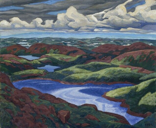 Looking Northward, Baie Des Moutons 1928 by Edwin Holgate