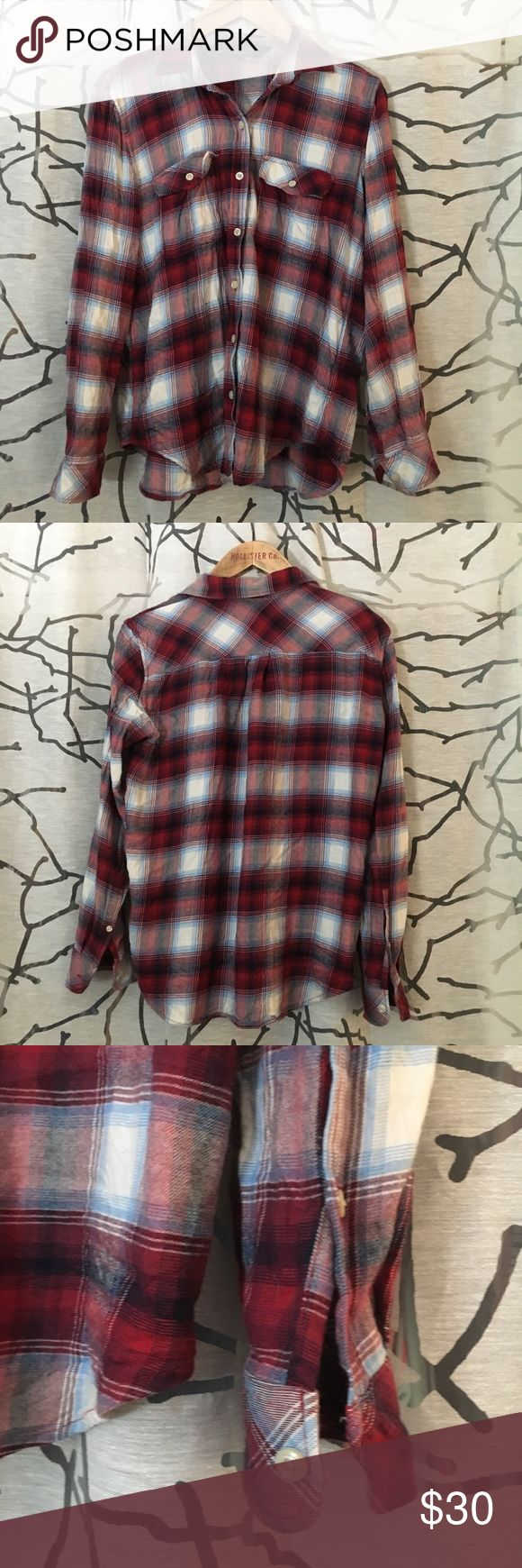 Red Pendleton flannel Buttery soft flannel from Pendleton. Size small and true to size. Could even fit an XS if you like it oversized. Really nice colors on this one. Washed in cold water and hung dry. Bought from gap. Pendleton brand. Pendleton Tops Button Down Shirts