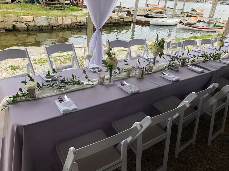 Pin By Candi S Floral Creations On Long Wedding Tables In 2021 Long Table Wedding Rectangle Wedding Tables Table Settings