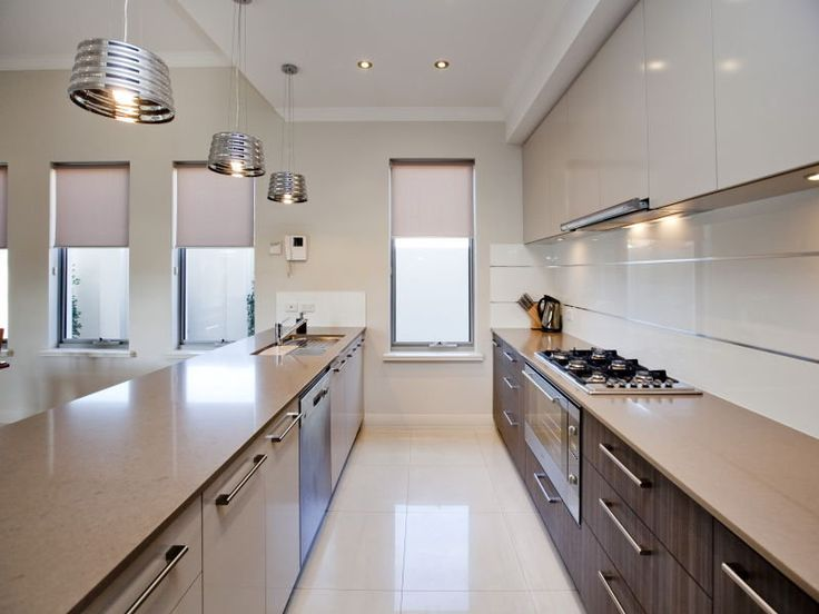 33 best images about galley kitchen designs layouts on for Island in small galley kitchen