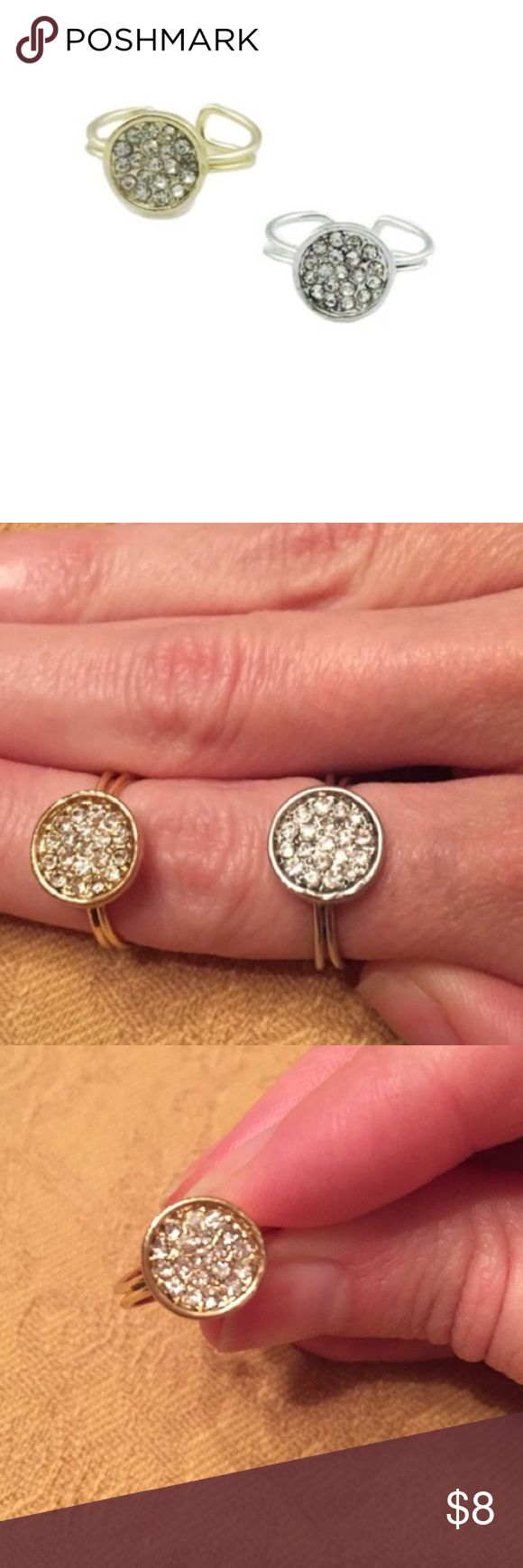 ⭐ONLY 2 SETS LEFT!!!⭐ ⭐Welcome to my boutique closet⭐Please visit my pre-loved & NWT closet @nmmulkey⭐T&J Designs Silver & Gold Circle rings⭐Price includes 1 silver & 1 gold ring⭐Adjustable⭐First picture courtesy of T&J designs⭐Please use the offer button⭐I WILL NOT respond to offers in the comments⭐🚫NO TRADES🚫 T&J Designs Jewelry Rings