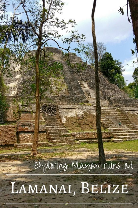 The Mayan Ruins at Lamanai, Belize are reached from Orange Walk by a spectacular river journey, or by car through a Mennonite community. Either way, it's an adventure! At Lamanai, explore the Maya site, climb the High Temple pyramid and marvel at the Mask Temple. Just on of the awesome things to do in Belize!