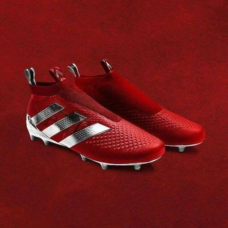 Stunning red Adidas boots.