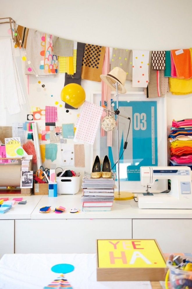 Wow: check out Rachel Castle's craft room.