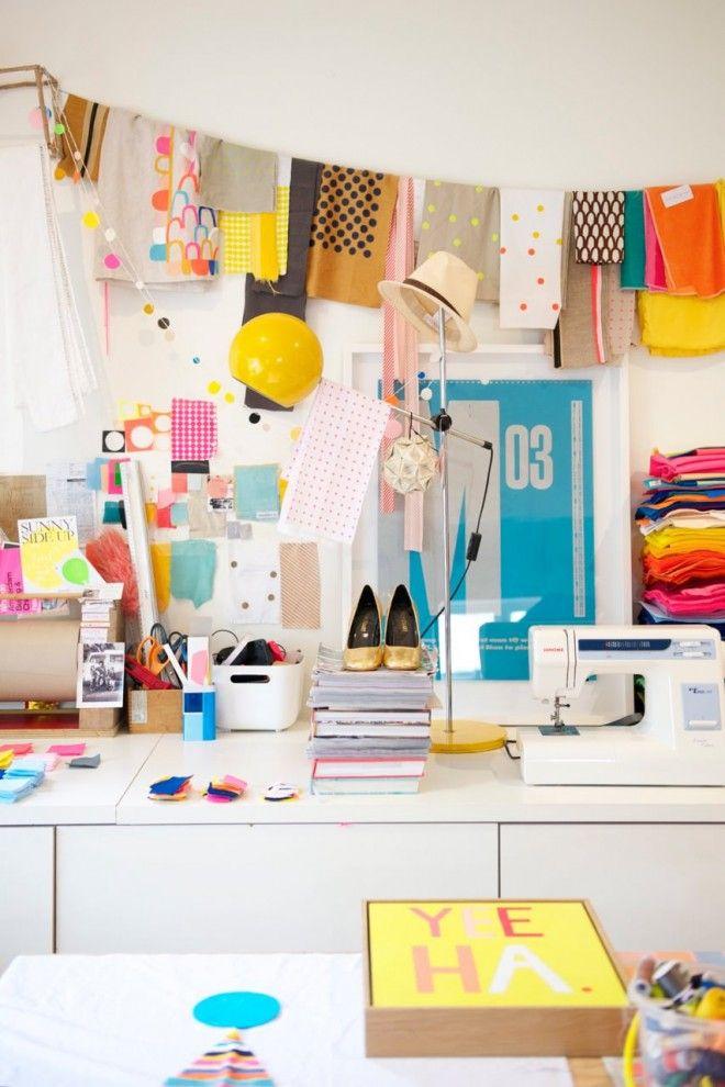 Rachel Castle's craft room.