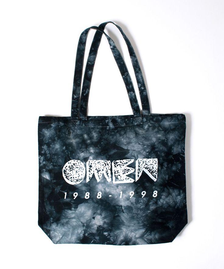 Omen Tie-Dye Canvas Tote Bag Black