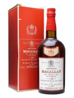 Macallan 25 Year Old / Silver Jubilee / Large Bottle Speyside Whisky
