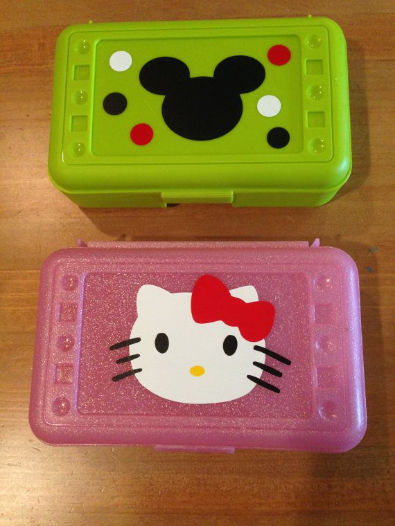 Personalized Pencil Box/ Art Supplies by KarskyCreations on Etsy, $7.00