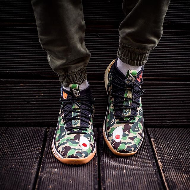 buy popular 53faa 9e52d BAPE X ADIDAS DAME 4 15000 release 17 Febbraio  February sneakers76 in  store only adidasoriginals bape adidasoriginals adidas bape dame  dame4 Photo ...