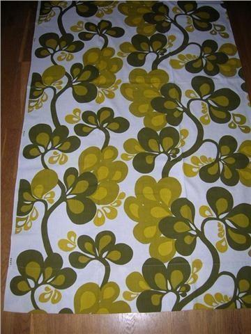 gardin längd väggdekor 50/60 -tal NOSTALGI retro vintage på Tradera.