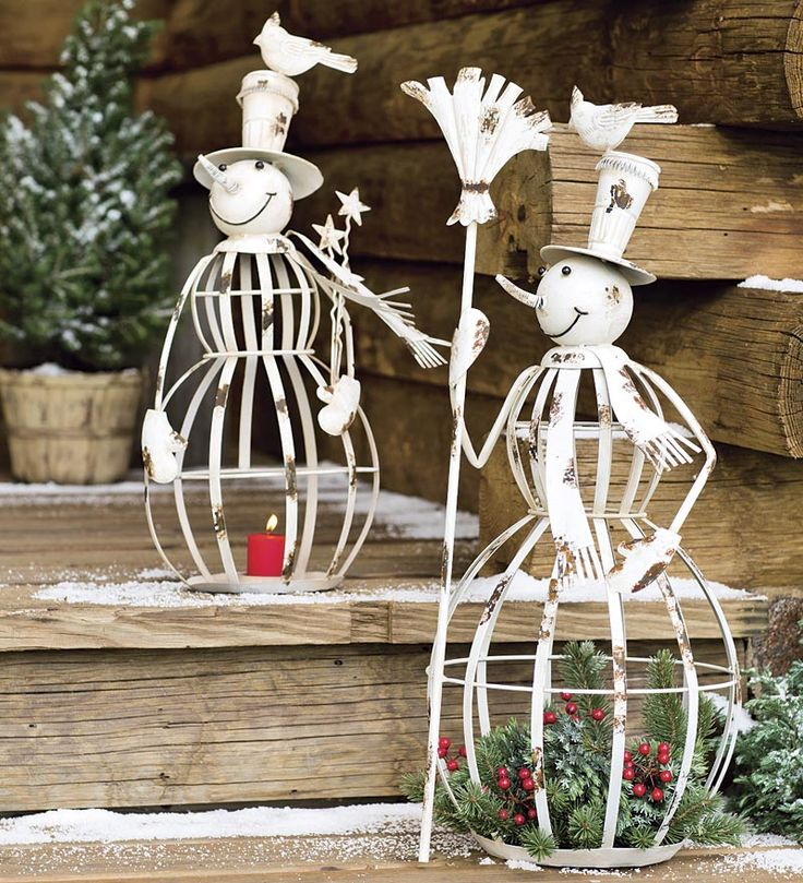 Iron Snowman Holiday Accents
