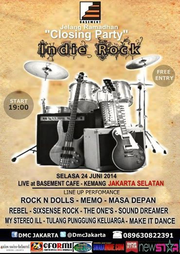 "DMC Indie Saling Support - ""CLOSING PARTY"" INDIE ROCK, Basement Cafe. #Jakarta #Indonesia"