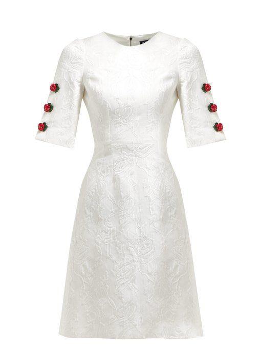 c1e92985ec Dolce & Gabbana Floral-jacquard rose-charm mini dress | Хочу! в 2019 ...