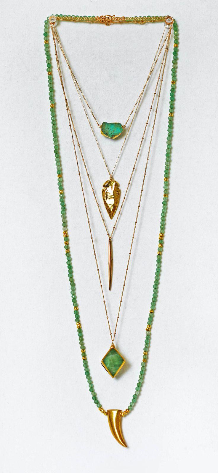 green & gold | kei jewelry