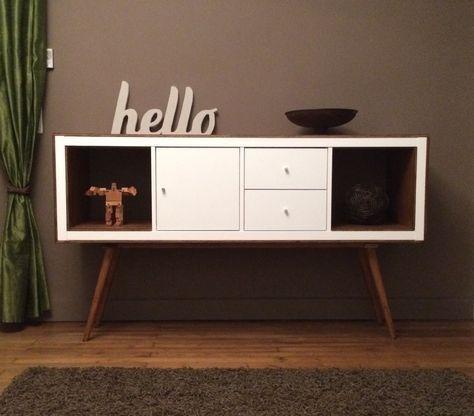 Ikea KALLAX , 10mm ply board, longer legs, and KALLAX doors and stain Teck of Java (Satin) ikea-upright-bookcases-now-mid-century-modern-sideboards.html#OADQyqULBzBqsJ48.99