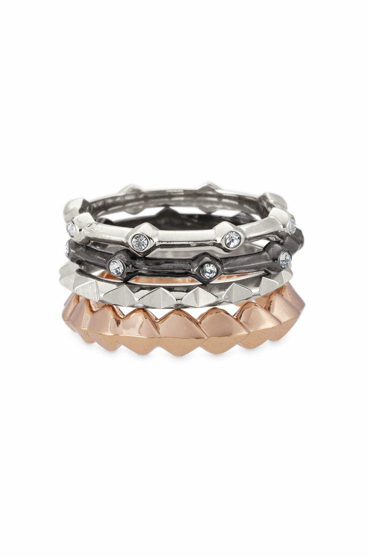 Stella & Dot Katelyn Mixed Band Rings