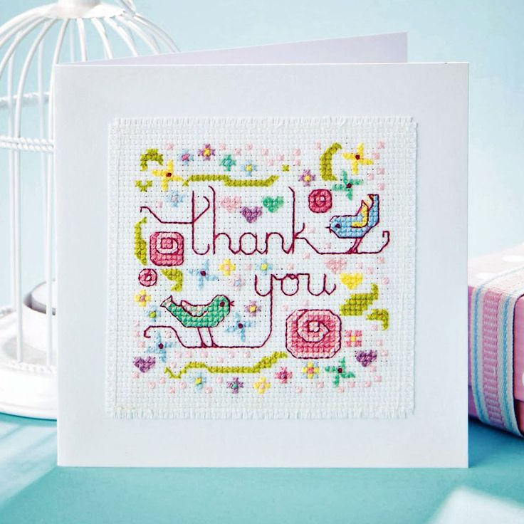 Sending thanks - Available in Cross Stitch Collection 244