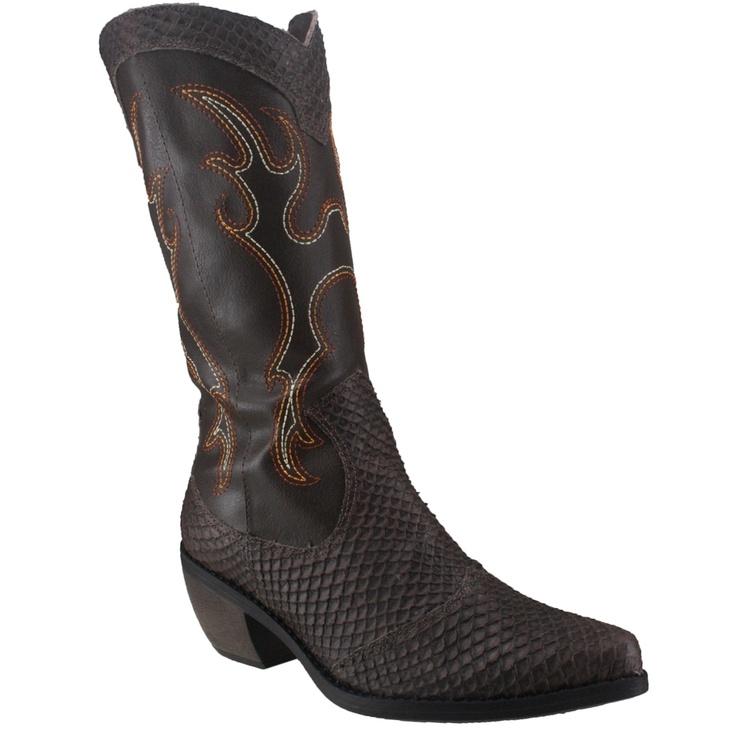 Bota Cravo e Canela 85404 - Brown (New Snake) - Calçados Online Sandálias, Sapatos e Botas Femininas   Katy.com.br