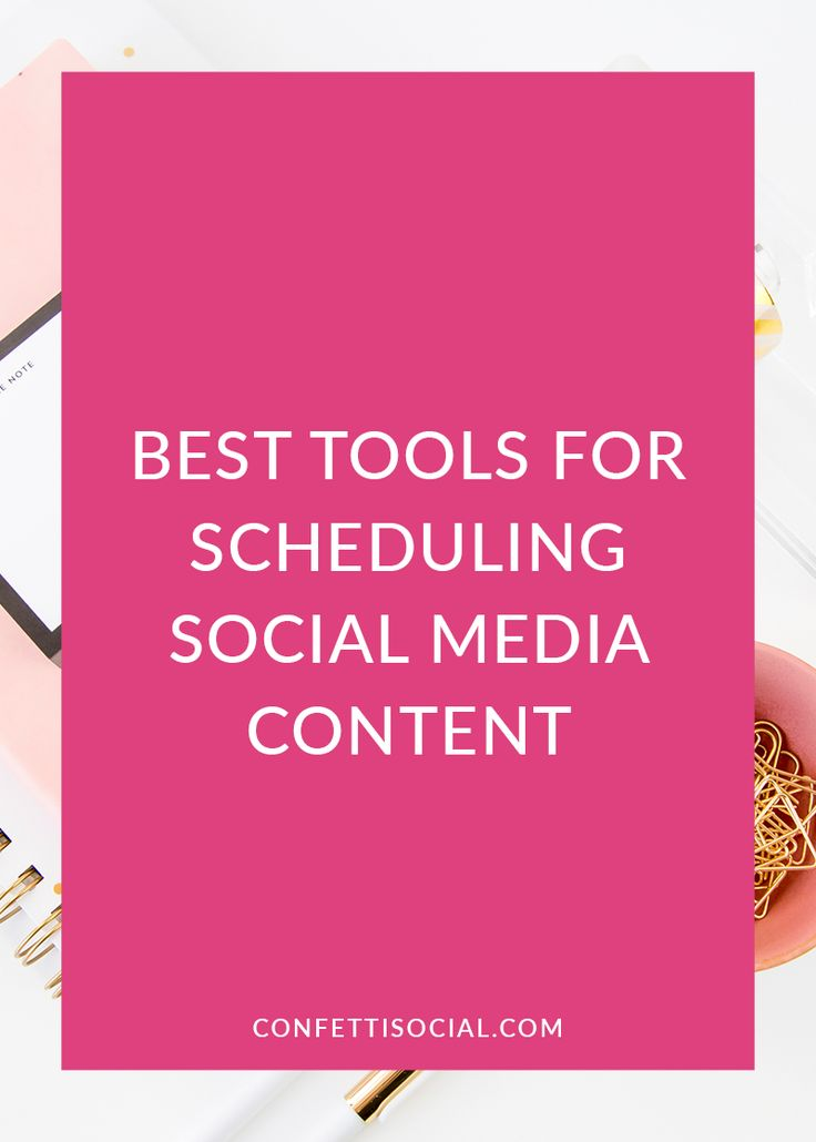 Find out some of the best tools for scheduling social media content on Confetti Social. social media tips   social media   social media scheduling   social media tools   schedule social media content   work from home  