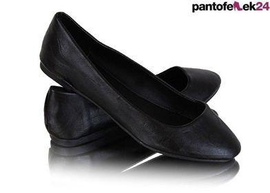 Czarne klasyczne balerinki / Black classic ballerines / 29 PLN #shoes #ballerines #black #spring #fashion