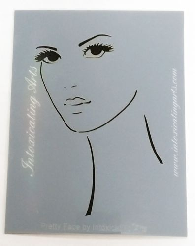 Pretty-Face-Stencil-Laser-Cut-4-1-4-x-5-1-2-Art-Journal-Woman-Face