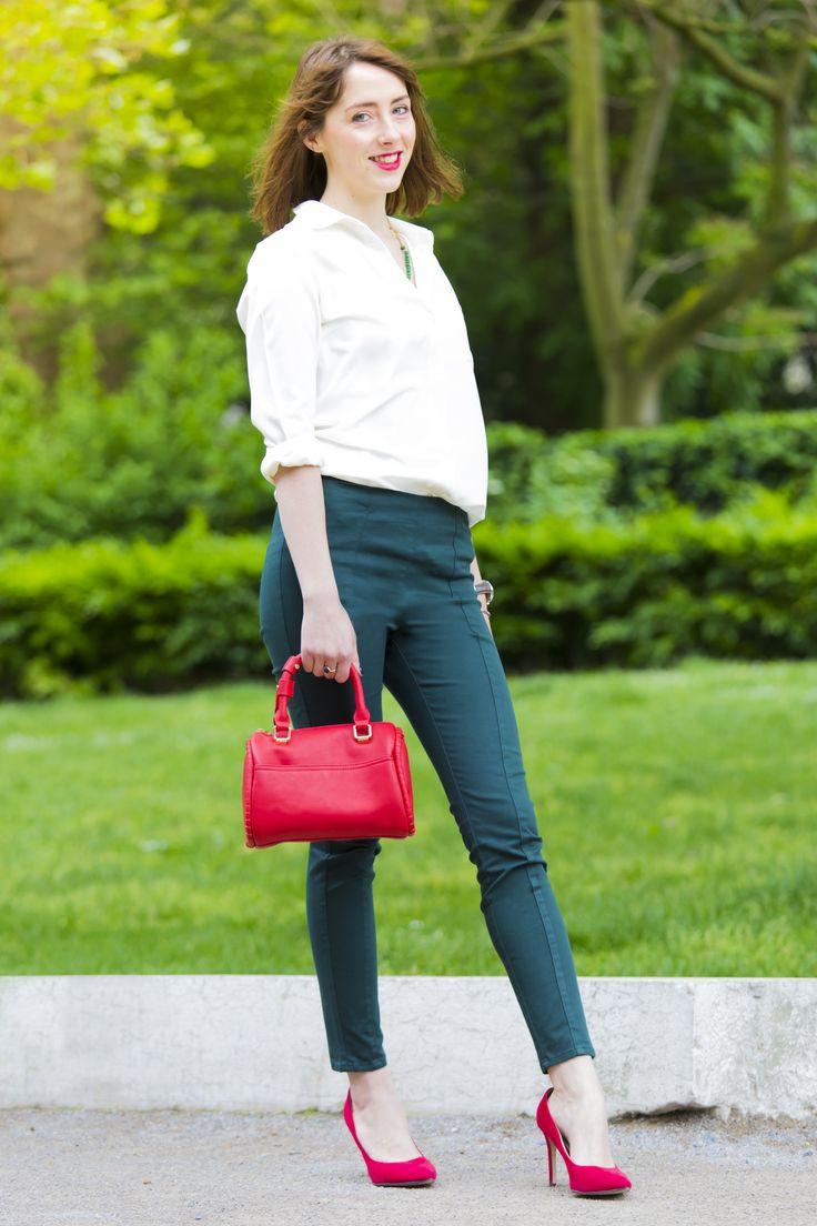 Look /  Street look / Drapeau Italie // vert, blanc, rouge