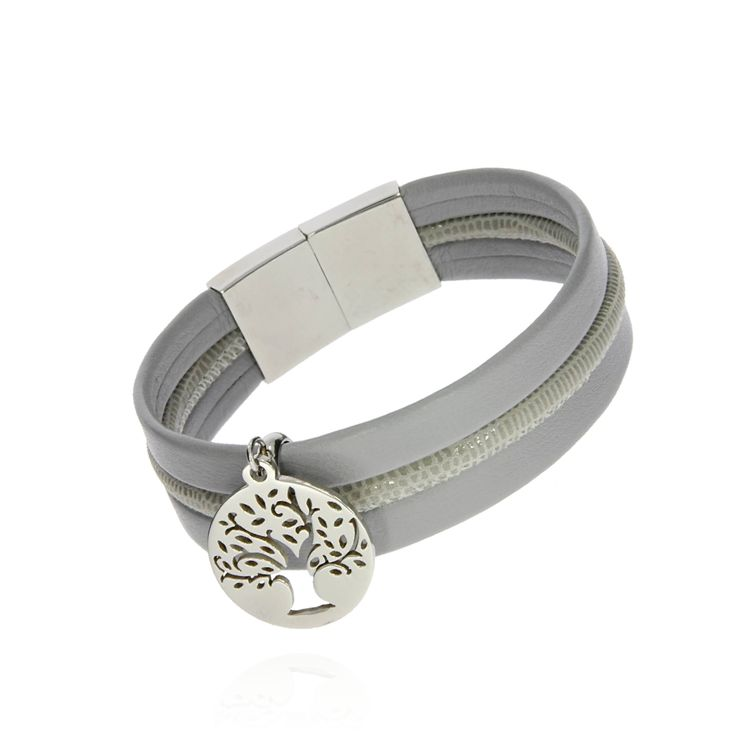 BRA 0034d - Jasny szary - Aleksandra Strippentow Biżuteria Handmade