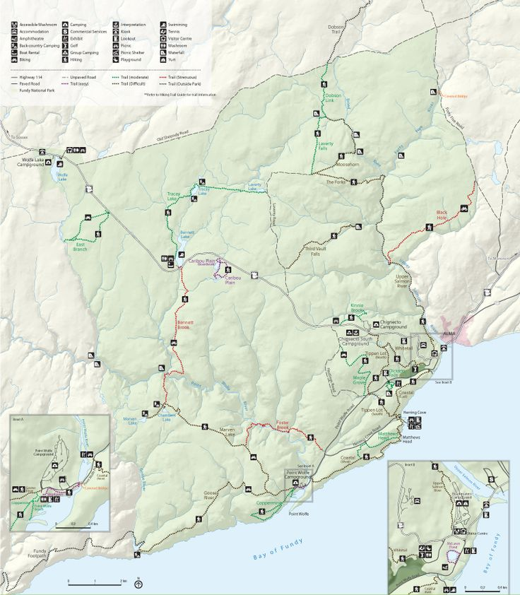 Fundy National Park of Canada Summer Activity Map  #Fundy #CarnivalCruise #travel  http://www.facebook.com/cowboywaytravel