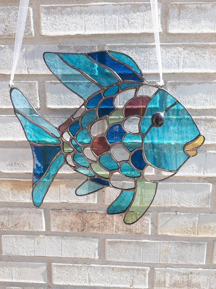 Mooiste vis van de zee ~ vis ~ Fish ~ Stained Glass ~ Tiffany ~ Color ~ Kleur ~ ArrowGlass