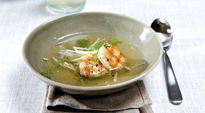 Venkelbouillon met gegrilde coquille - Foodies