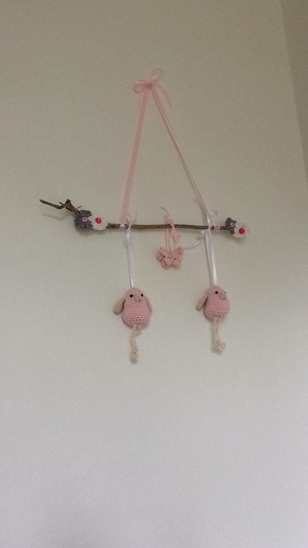 Mobile handmade baby crochet