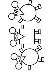 3 souris en papier PS - la maternelle de Camille