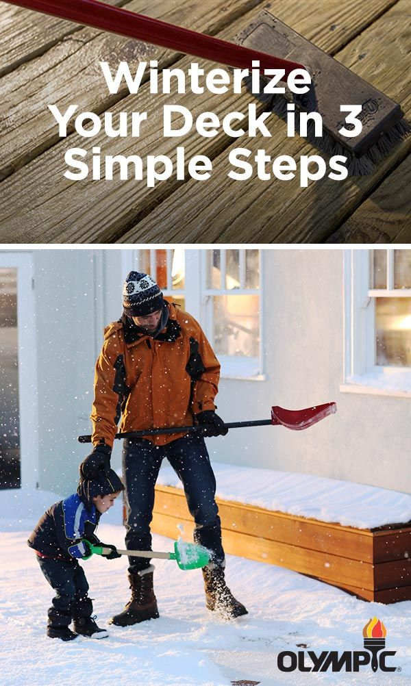 Steps to Protect Your Deck During the Winter: Winter is, indeed, coming. Follow these easy tips to winterize your wood - ensuring that ice, snow and sleet won't damage your beautiful deck.