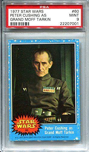 1977 Star Wars Topps Blue Series Trading Card #60 Peter Cushing as Grand Moff Tarkin PSA 9 Mint //Price: $99.99 & FREE Shipping //     #starwarsfan