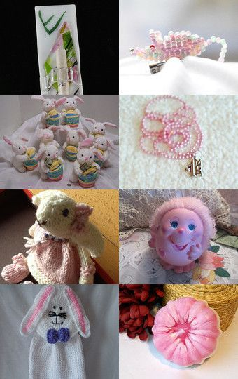 Tickle the Pink and Ivories by Libbey on Etsy--Pinned with TreasuryPin.com