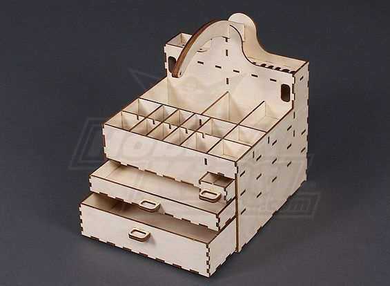Laser Cut Plywood Kit Flight Model Tool Box Wooden