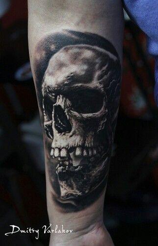 Skull. One session.  #varlakovtattoo #blackandgraytattoo #realistictattoo #skull #tattoo