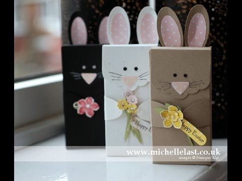 Easter Bunny Boxes using Stampin Up Supplies by Michelle Last - YouTube