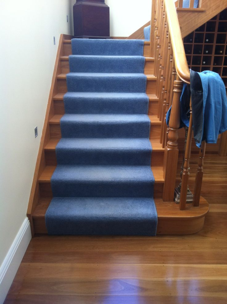 Blackbutt staircase to matched a Grey Box Solid Floor