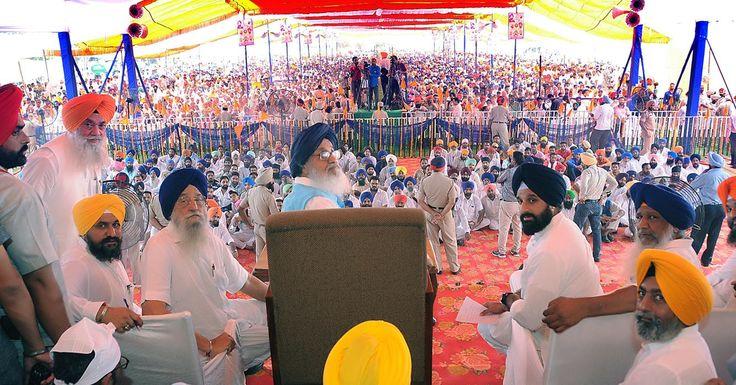 Shiromani Akali Dal conference on Rakhar Punneya at Baba Bakala #Parkash #Singh #Badal #SAD #Shiromani #Akali #Dal