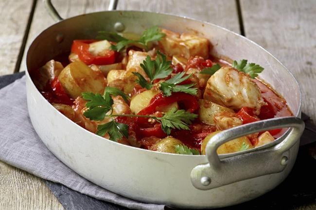 Rask bacalao med lettsaltet torsk. Klar på bare 40 minutter.