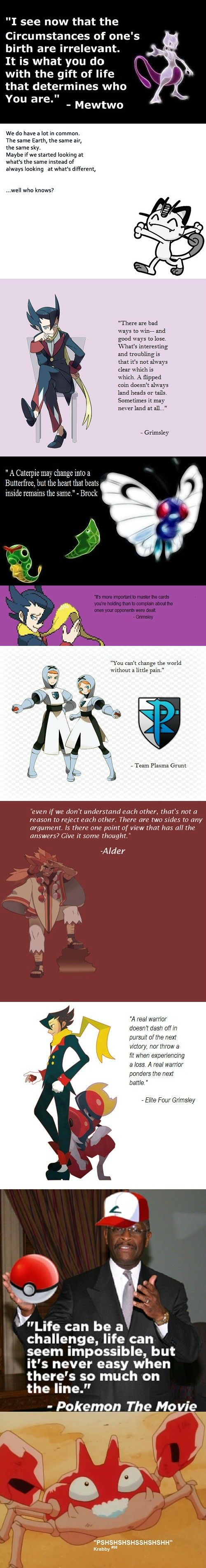 Great inspirational quotes from pokemon, haha the last one though...haha