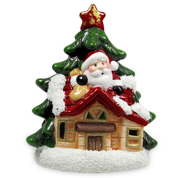 Santa On Hut LED Showpiece Surprise your dear one in a special way on Christmas by presenting her or him this Santa sitting on hut LED showpiece. : Shop Now : Rs.299.  http://hallmarkcards.co.in/collections/christmas-gifts/products/christmas-craft-ideas