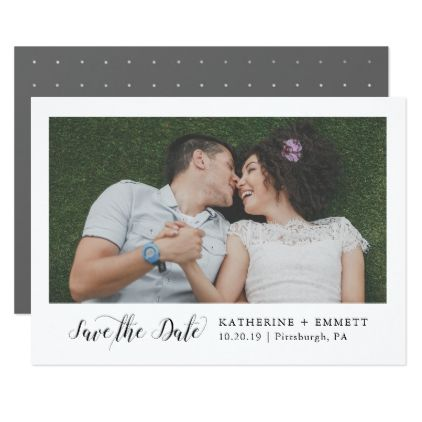 Simply Sweet Save the Date Photo Card - invitations personalize custom special event invitation idea style party card cards