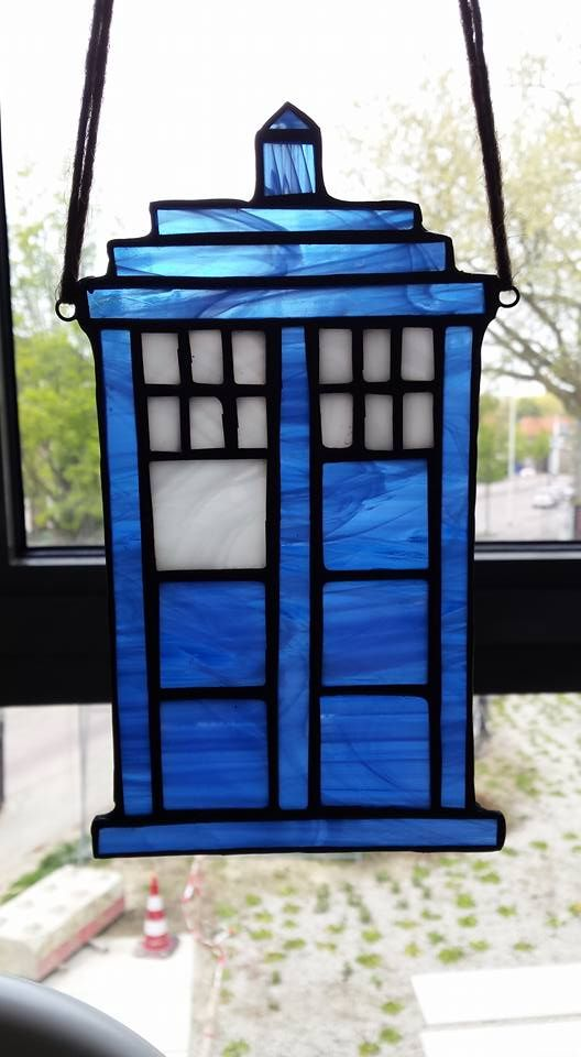 Tardis ~ Dr Who ~ Stained Glass ~ Tiffany ~ Blue ~ArrowGlass