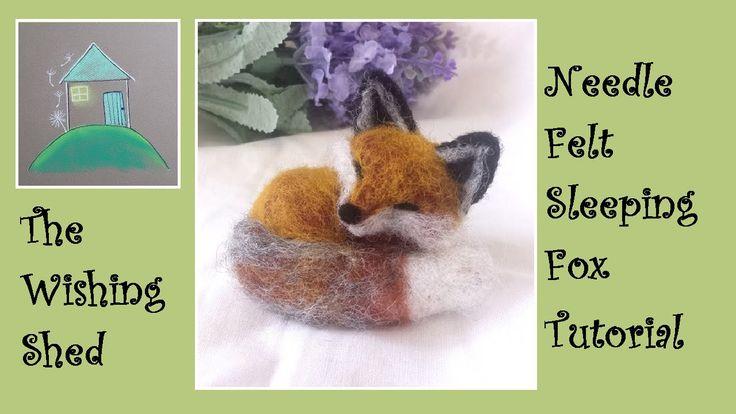 Sleeping Fox Needle Felt Kit Tutorial - The Wishing Shed - Beginner/Inte...