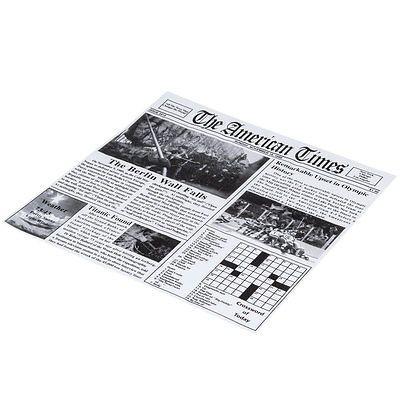Retro party theme. Newspaper Print Deli Sandwich Wrap Paper - 1000/Case- French fry paper